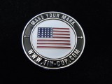 Tin Cup Magnetic Ball Marker-Stars & Stripes