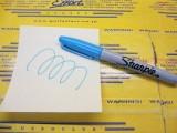 Fine Point Neon Permanent Marker Blue