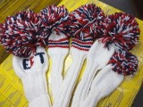 Headcover Set(1w/3w/5w/Xw/Ut) White/Red/Navy