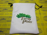 Torrey Pines Premium Leather Pouch-White