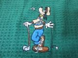 Disney Waffle Towel Goofy-Green