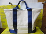 CANVAS TOTE L BRL291219 Natural×Navy