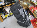 RIBBED Stand Bag-BLACK/GRAY