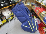 RIBBED Stand Bag-BLACK/NAVY