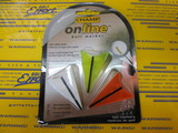 On Line Ball Marker Plastic 3pcs-white/yellow/orange