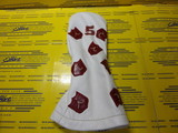 Dancing Crests Leather Head Cover-Pure White 5W