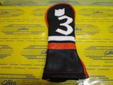 The Carlton-Handwoven/Black Base/Pure White/Orange 3W