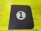 scorecard holder-brown/creme/navy