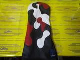 camo headcover 1w-black/white/red