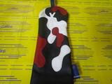 camo headcover 3w-black/white/red