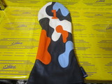 camo headcover 1w-navy/white/orange/stitch blue