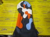 camo headcover 1w-navy/white/orange/stitch blue