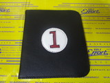 scorecard holder-black/white/red