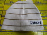 US Women's Striped Beanie-White