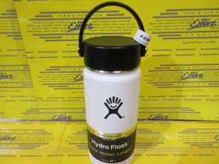Hydro Flask<br>Wide Mouth 16oz White