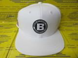 MS Flat Visor Cap BRG201M46 White