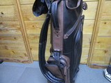 Leather Stand Bag Black/Brown